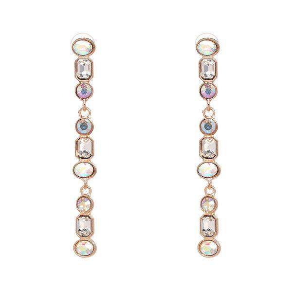 Imitated crystal&CZ Fashion Geometric earring  (AB color) NHJJ5073-AB-color
