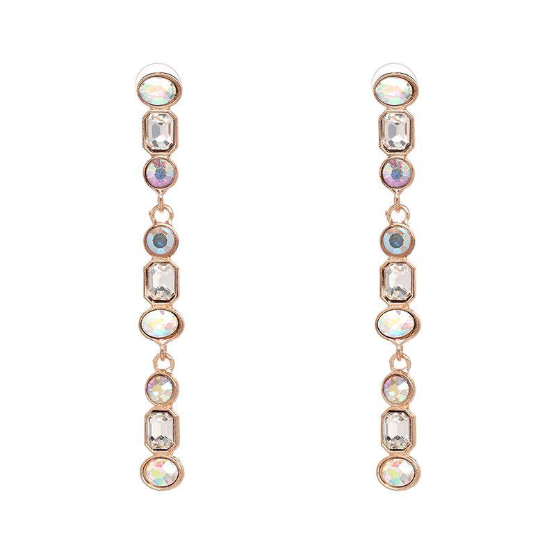 Imitated crystalCZ Fashion Geometric earring  AB color NHJJ5073ABcolor