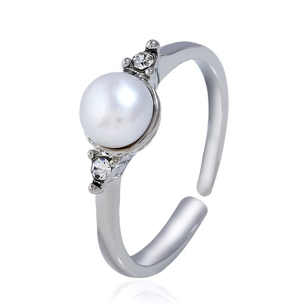 Alloy Korea Geometric Ring  (White K white) NHKQ1863-White-K-white