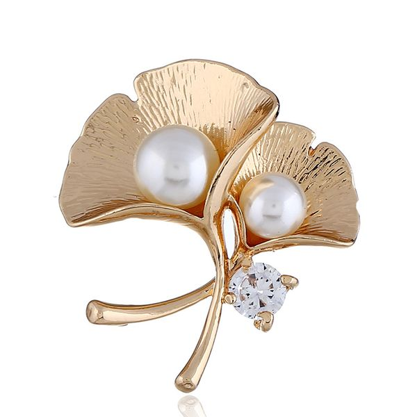 Alloy Fashion Flowers brooch  (KC alloy white) NHKQ1866-KC-alloy-white