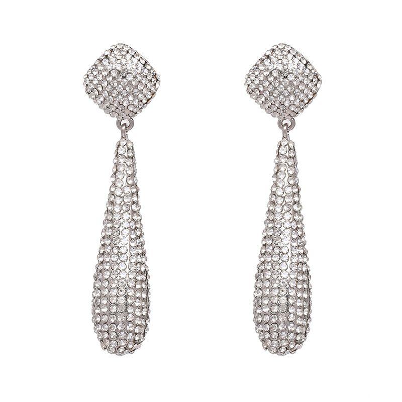 Imitated crystal&CZ Fashion Geometric earring  (51145) NHJJ5080-51145