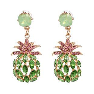 Imitated crystal&CZ Fashion Geometric earring  (green) NHJJ5083-green's discount tags