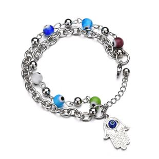 Titanium&Stainless Steel Fashion Geometric bracelet  (color) NHHF0979-color's discount tags