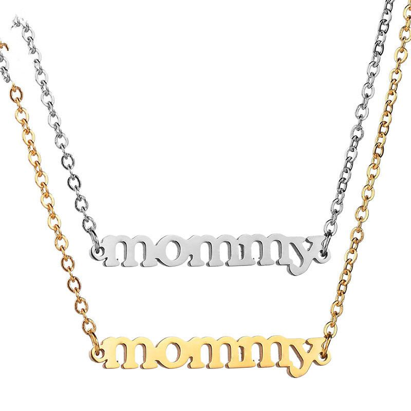 TitaniumStainless Steel Fashion Geometric necklace  Steel color NHHF0982Steelcolor