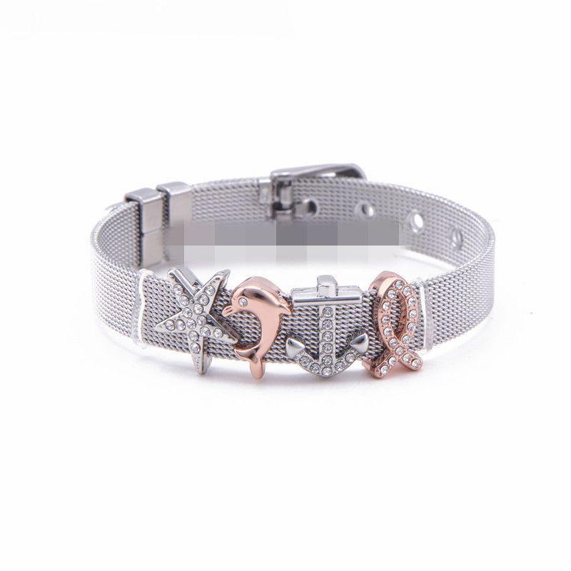Titanium&Stainless Steel Simple Geometric bracelet  (Steel bracelet) NHSX0308-Steel-bracelet