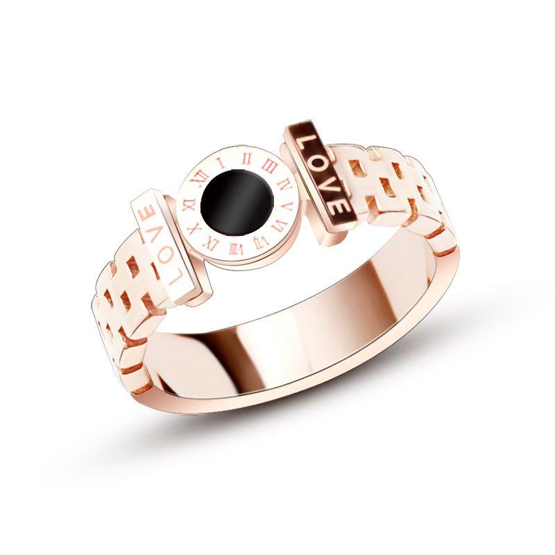 Titanium&Stainless Steel Fashion Geometric Ring  (Rose Alloy-6) NHOK0335-Rose-Alloy-6