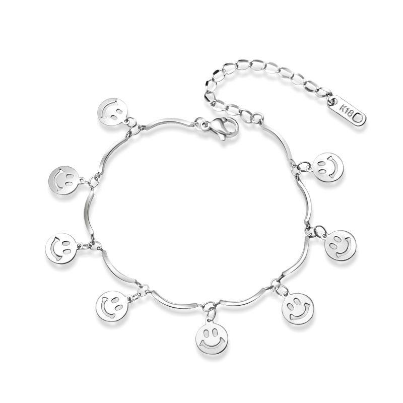 Titanium&Stainless Steel Fashion Geometric bracelet  (Steel color 15+5cm) NHOK0344-Steel-color-15+5cm