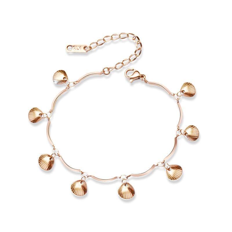 Titanium&Stainless Steel Simple Geometric bracelet  (Steel color 15+5cm) NHOK0348-Steel-color-15+5cm