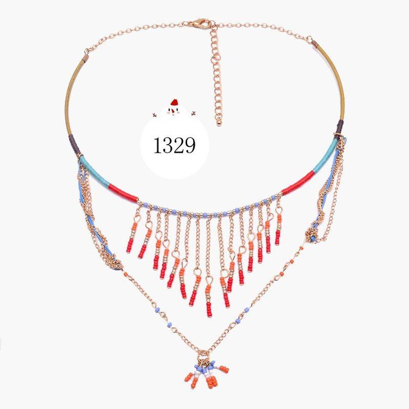 Alloy Bohemia Geometric necklace  (A1) NHJQ10658-A1