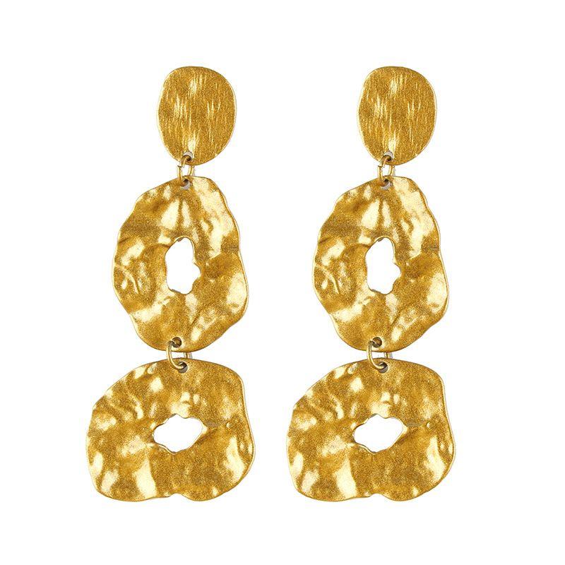 Alloy Simple Geometric earring  (yellow) NHJQ10660-yellow