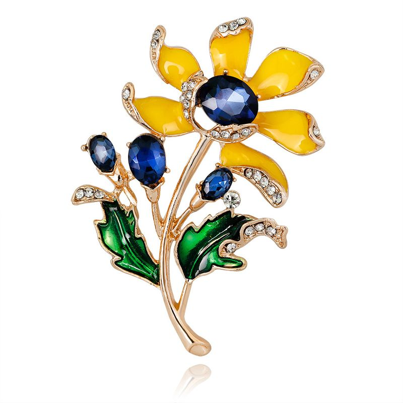 Alloy Fashion Flowers brooch  (AL354-A) NHDR2904-AL354-A