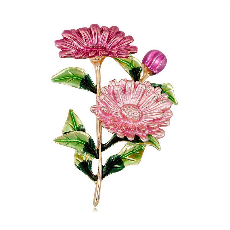 Alloy Korea Flowers brooch  (AL351-A) NHDR2916-AL351-A
