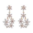 Imitated crystalCZ Fashion Flowers earring  purple NHJJ5071purple
