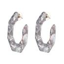 Plastic Fashion Geometric earring  red NHJJ5074red