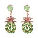Imitated crystalCZ Fashion Geometric earring  green NHJJ5083green