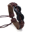Leather Fashion bolso cesta bracelet  black NHPK2084black