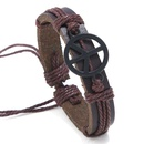 Leather Fashion bolso cesta bracelet  black NHPK2085black
