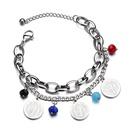 TitaniumStainless Steel Punk Geometric bracelet  Steel color NHHF0978Steelcolor