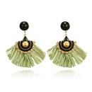 Alloy Vintage Tassel earring  green NHGY2392green