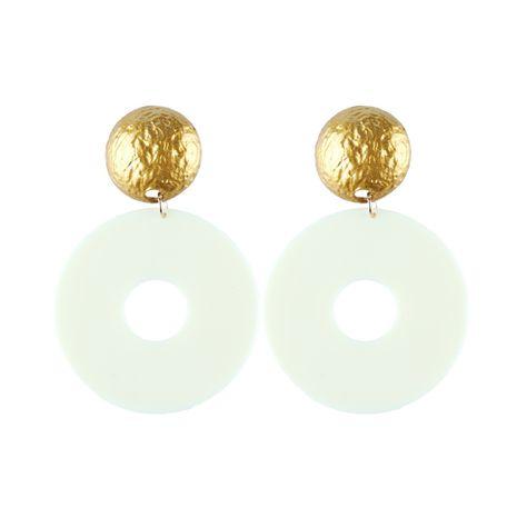 Plastic Fashion Geometric earring  (white) NHJQ10670-white's discount tags