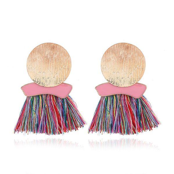 Alloy Bohemia Tassel earring  (color) NHNZ0849-color