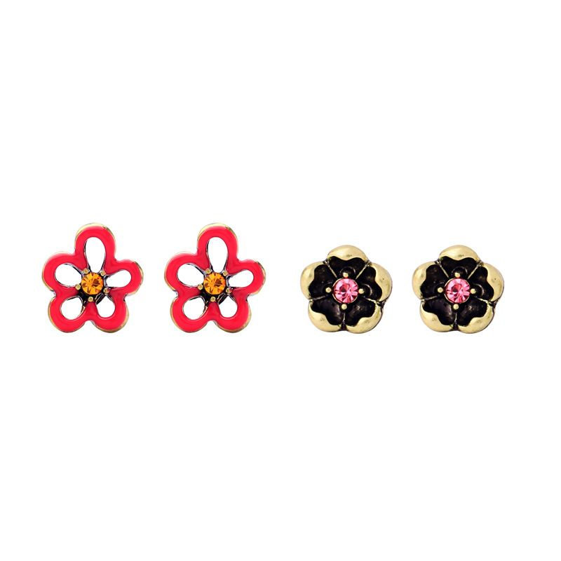 Alloy Fashion Flowers earring  (Photo Color) NHQD5512-Photo-Color