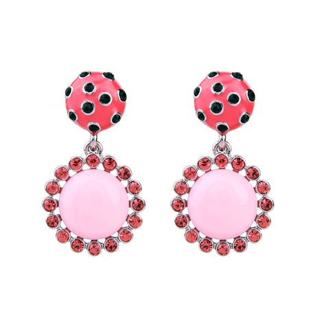 Alloy Fashion Flowers earring  (Pink-1) NHQD5514-Pink-1's discount tags