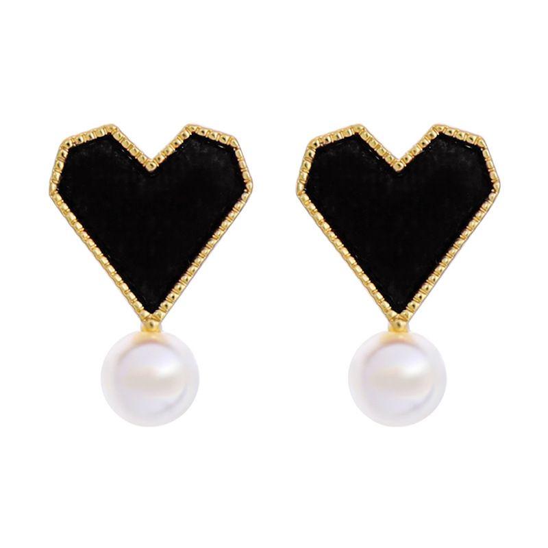 Alloy Korea Sweetheart earring  Black1 NHQD5580Black1