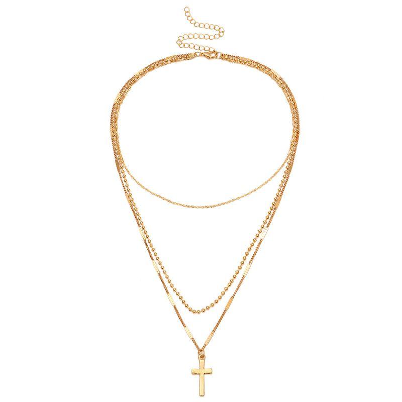 Alloy Simple Geometric necklace  Alloy 1949 NHXR2456Alloy1949