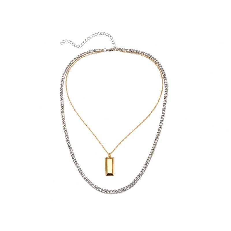 Collier gomtrique simple en alliage alliage C1947 NHXR2488alliageC1947
