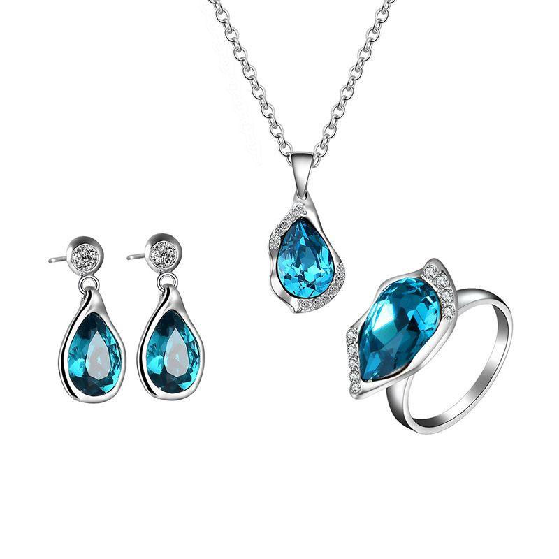 Alloy Fashion  necklace  61173174 blue NHXS176861173174blue