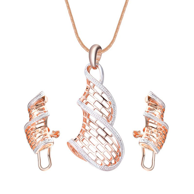 Alloy Bohemia  necklace  61172425 rose alloy NHXS177061172425rosealloy