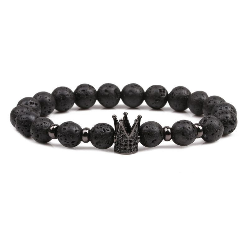Natural Stone Fashion Geometric bracelet  (black) NHYL0085-black
