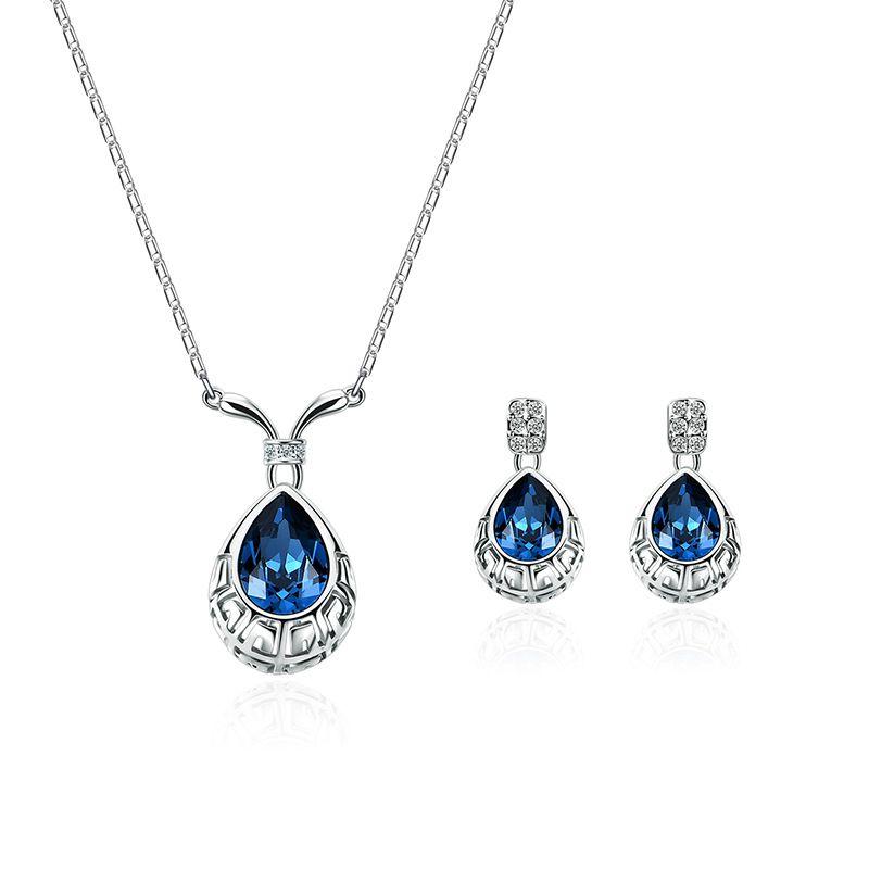 Alloy Korea  necklace  61172406 blue NHXS177661172406blue