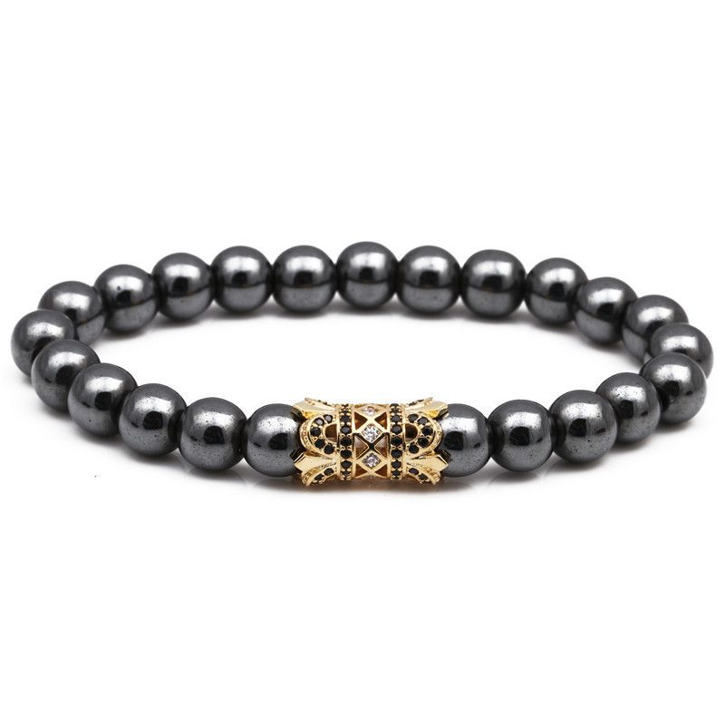 Natural Stone Fashion Animal bracelet  black NHYL0094black