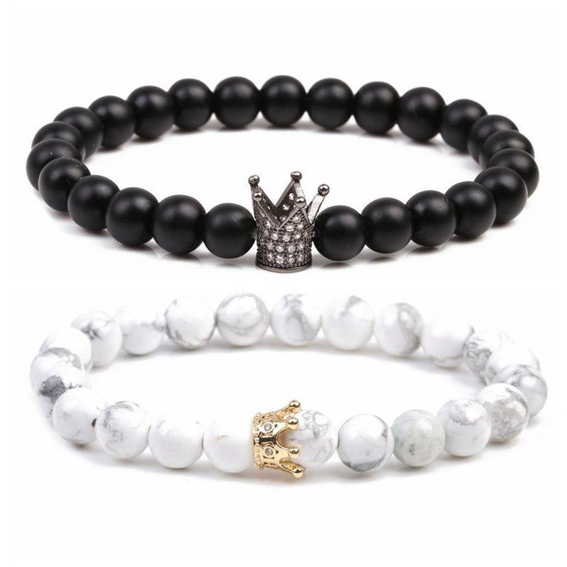 Natural Stone Fashion Animal bracelet  Black + white NHYL0104Blackwhite