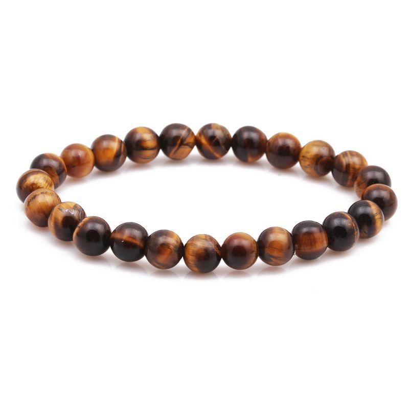 Alloy Fashion Geometric bracelet  (Yellow tiger eye stone) NHYL0129-Yellow-tiger-eye-stone