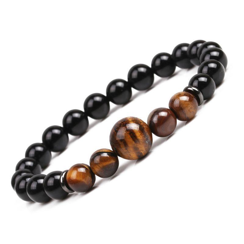 Natural Stone Fashion Geometric bracelet  Tiger eye NHYL0147Tigereye