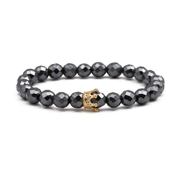 Natural Stone Fashion Geometric bracelet  (Small crown) NHYL0154-Small-crown