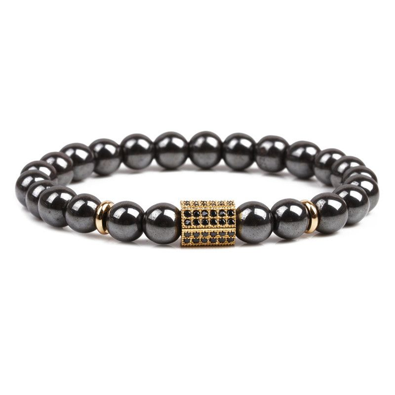 Natural Stone Fashion Geometric bracelet  (Alloy) NHYL0169-Alloy
