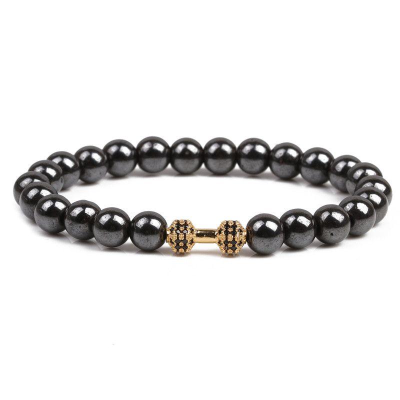 Natural Stone Fashion Skeleton Skull bracelet  Alloy NHYL0175Alloy