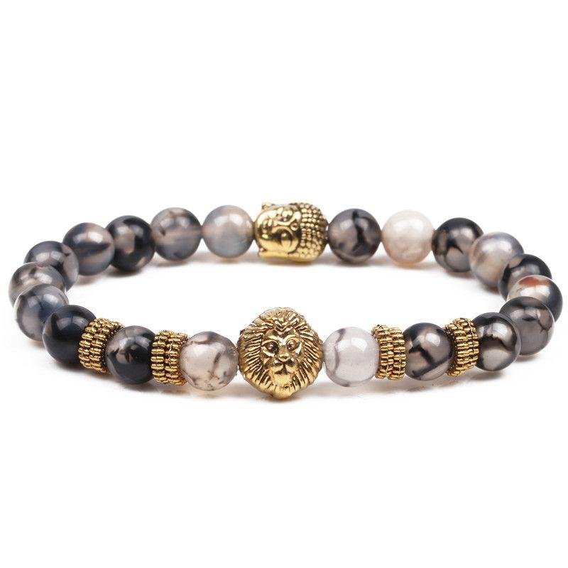 Natural Stone Fashion Animal bracelet  (Alloy) NHYL0185-Alloy