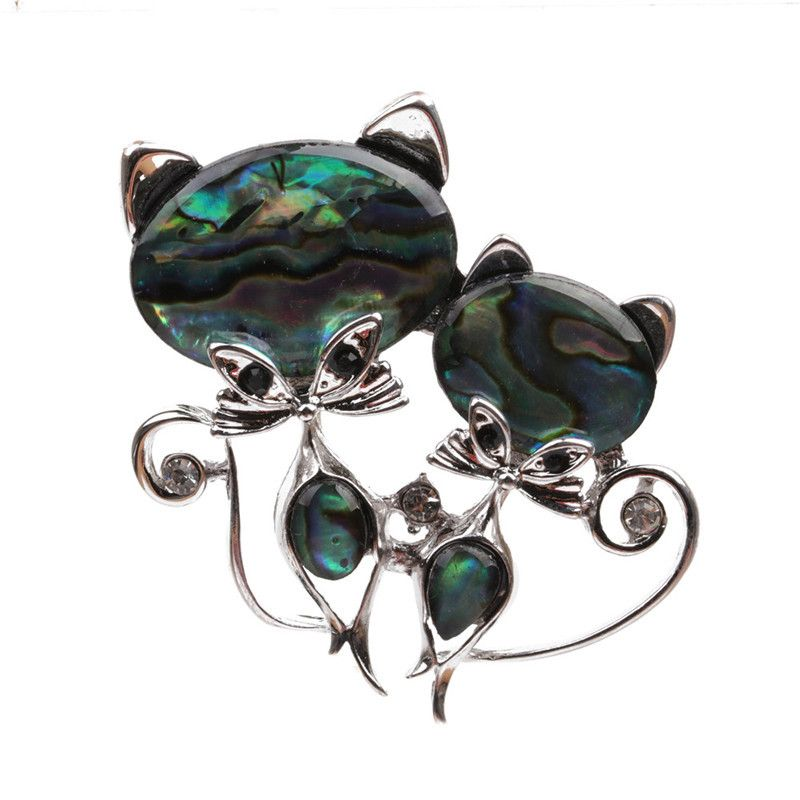 Alloy Fashion Animal brooch  (Cat) NHYL0184-Cat