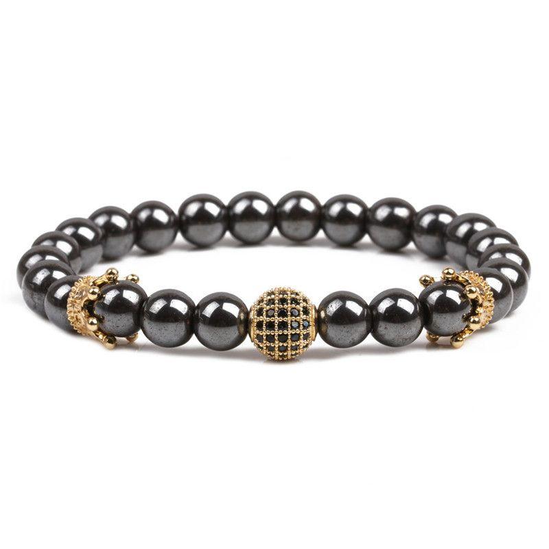 Natural Stone Fashion Geometric bracelet  (alloy) NHYL0191-alloy