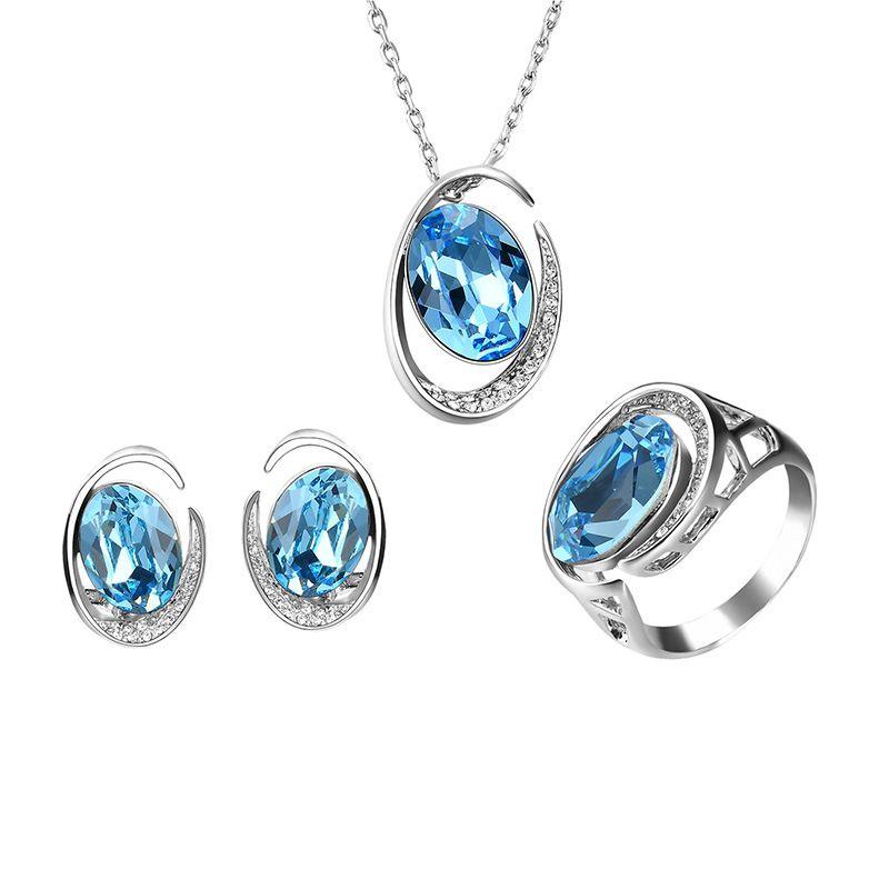 Alloy Fashion  necklace  61173173 blue NHXS178761173173blue
