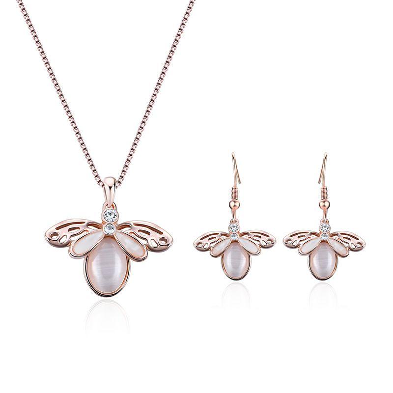 Alloy Korea  necklace  61172404 rose alloy NHXS178961172404rosealloy
