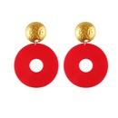 Plastic Fashion Geometric earring  white NHJQ10670white