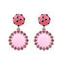 Alloy Fashion Flowers earring  Pink1 NHQD5514Pink1