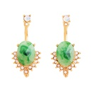 Alloy Fashion Geometric earring  Green1 NHQD5560Green1