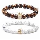Natural Stone Fashion Animal bracelet  White pine + tiger eye NHYL0098Whitepinetigereye